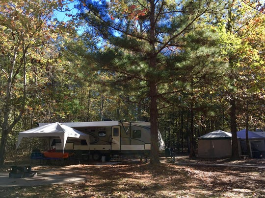 There are several options when it comes to RV spots at Jimmie Davis State Park in Chatham. Some have decks, some are on the water and some are nearby in wooded areas.