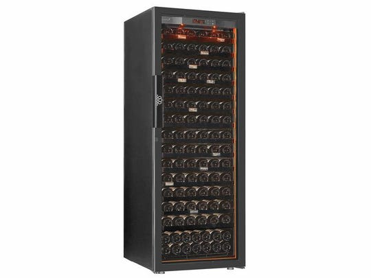 EuroCave Revelation L Wine Cellar Covered by a five-year warranty, with interior UV-free lighting (and UV-tinted, dual pane glass), vibration-reducing shelves and capacity for 182 bottles, EuroCave is ideal for the wine collector with some serious skin in the game.