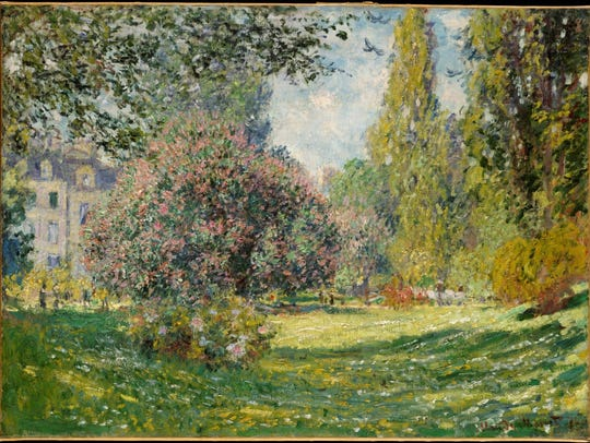 "Claude Monet landscape, ""The Parc Monceau."""