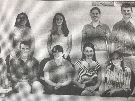 The UCHS Future Business Leaders of America officers named in May 2004 were, seated from left, President Adam French, Vice President Alexa Farr, Secretary Jordan Noble, Treasurer Laura Minor, Reporter Ashley Clark, Co-Historians Kristin Hutchison and Susan Hendrickson and Parliamentarian Seth Cross. The previous officers, pictured in the back from left were, President Mallory Ervin, Vice President Marti Randolph, Secretary Brianne Waddell, Treasurer Beth Mitchell, Reporter Shalane Butts, and Parliamentarian Justin Ladd.