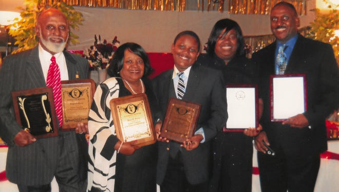 The Legacy NAACP Life Member Family was awarded its life membership plaques at the Northampton County Branch NAACP annual Freedom Fund Scholarship Banquet. Pictured, left, are Reginald Terry, husband and retired school counselor and coach; his wife, Joyce Terry, retired high school counselor; their grandson, Gabriel McLendon, Landstown Elementary School fifth grade student; their daughter, Dr. Nequai Terry-McLendon, doctor of physical therapy; and her husband, Eric McLendon, retired U.S. Navy Lt. commander.