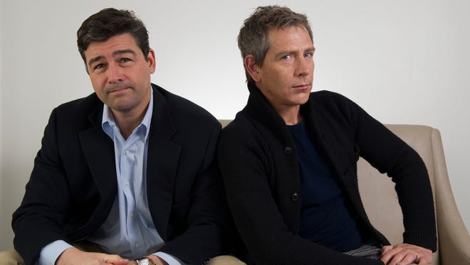 Why so serious, Kyle Chandler and Ben Mendelsohn? They star in the Netflix original drama 'Bloodline.'