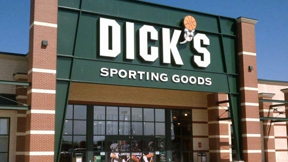 The entrance to a Dick's Sporting Goods Store