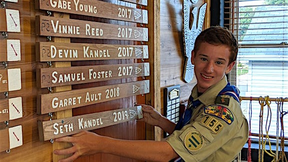 Seth Kandel is Malvern Scout Troop 155's 129th Eagle Scout.