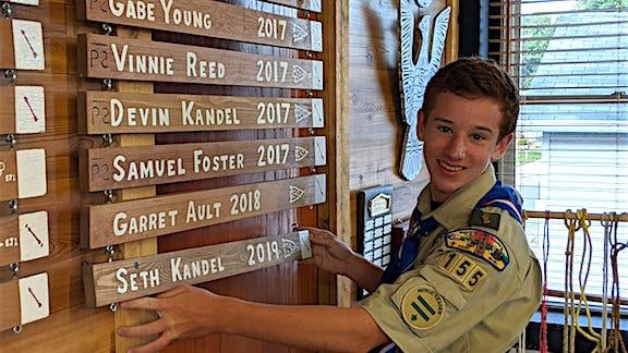 Seth Kandel is Malvern Scout Troop 155's 129th Eagle Scout.