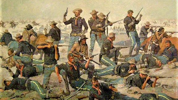 """Custer's Last Stand,"" part of the  ""Difficult History"" exhibit at the arts center."