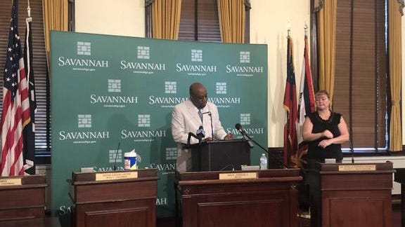 Savannah Mayor Van Johnson signs an emergency order Tuesday mandating the wearing of face masks when out in public spaces and inside commercial establishments within the city limits. The mandate begins at 8 a.m. on Wednesday and runs until further notice.