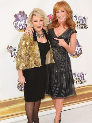 Joan Rivers and Kathy Griffin arrive at Comedy Central's Roast of Joan Rivers at CBS Radford Studios on July 26, 2009 in Studio City, California.