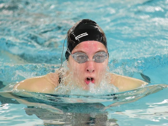 Olivia Hustad was one of Wayne's premier swimmers Tuesdsay