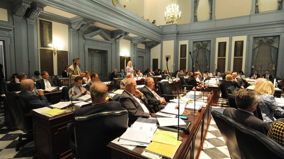 House of Representatives during session at Legislative Hall in Dover.