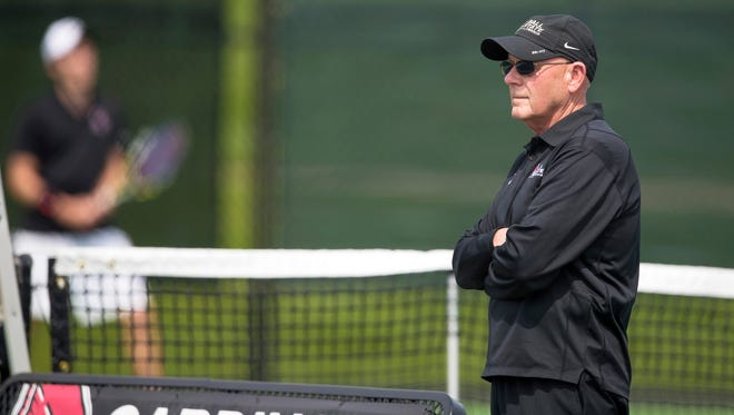 Bill Richards has been the men's tennis coach at Ball State since 1972.