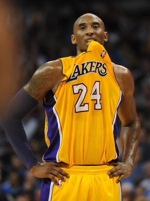 Lakers guard Kobe Bryant will be out about six weeks after breaking a bone in his knee.