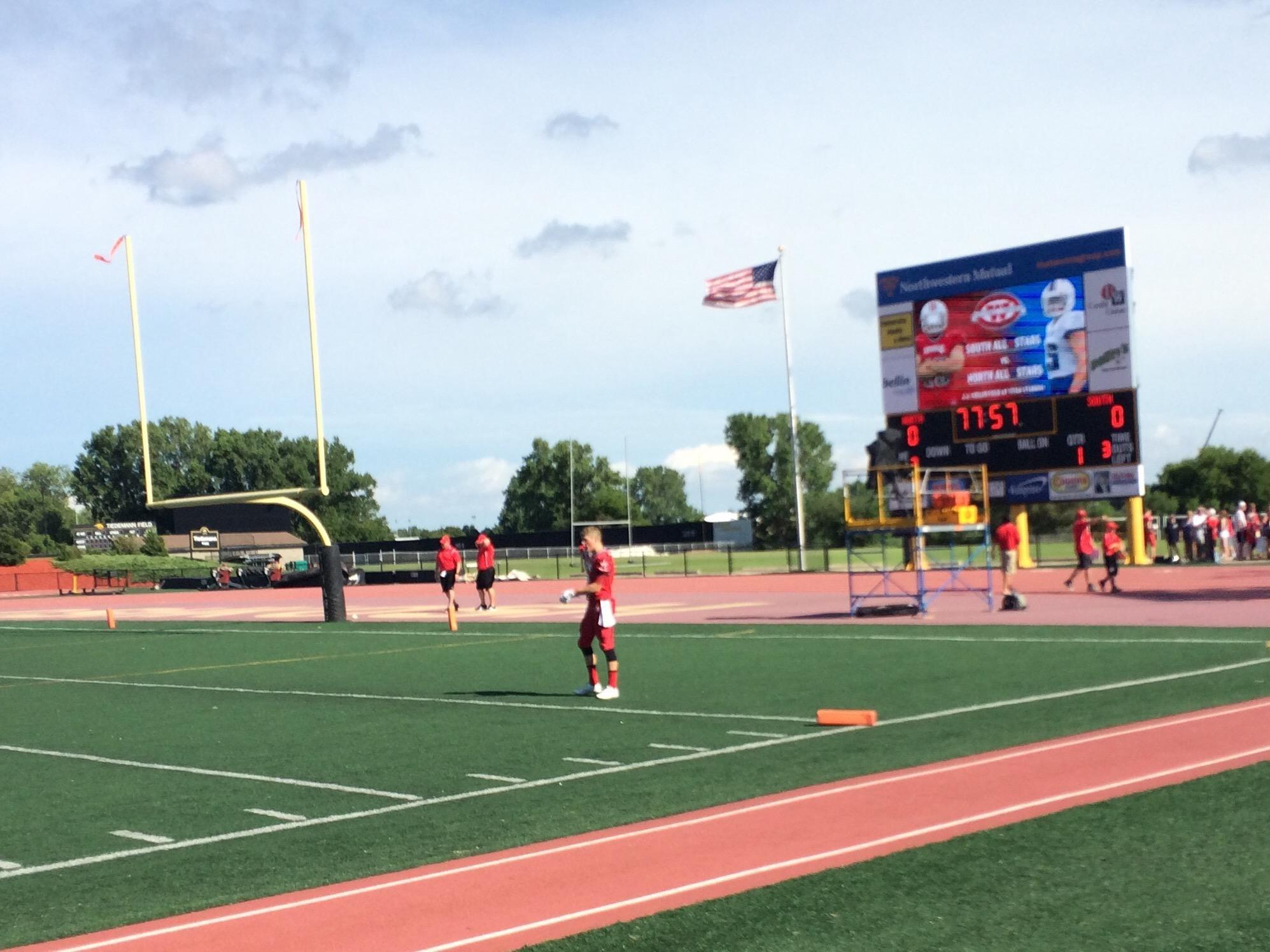 The WFCA All-Star games were held at Titan Stadium in Oshkosh Saturday.