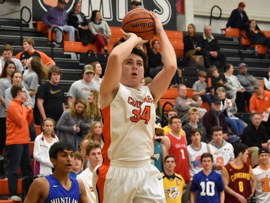 MTCS' Barr Ellenburg fires a shot during Tuesday's