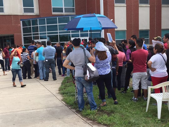 About 250 people were turned away on a recent Saturday morning at Woodward High School in Cincinnati from applying for a Metropolitan Area Religious Coalition of Cincinnati ID card. Demand for the alternative identification card surprised organizers.