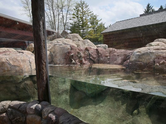A view of the new Otter Passage exhibit that will be home to North American river otters at the Milwaukee County Zoo. The exhibit will open May 19.