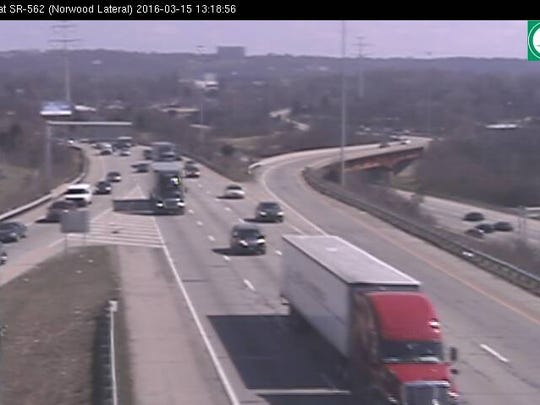 SB I-71 is back open at the Norwood Lateral at 1:20 p.m. after it closed shortly after 11:30 a.m.