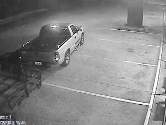 Opelousas police seeking a suspect accused of stealing a lawn mower in Opelousas.