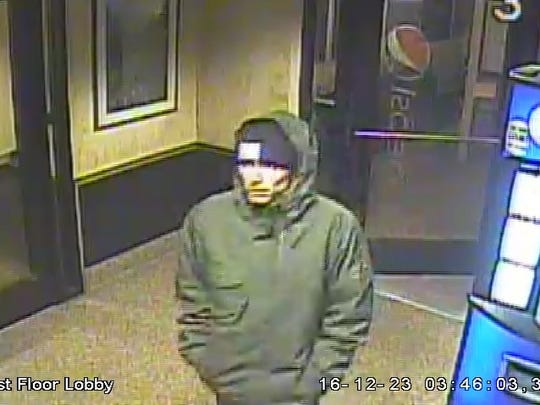 The suspect in a Dec. 23 attempted vehicle theft and burglary caught on surveillance video.