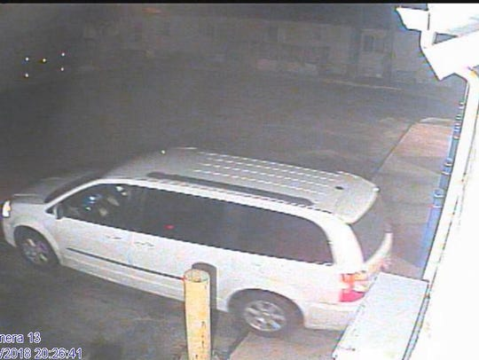 Police say the suspect has used two different vans and wipes his prints when he leaves.