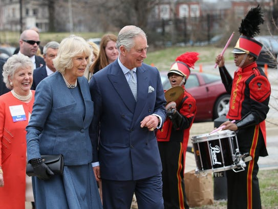 Duchess Camilla and Prince Charles arrive at the Centre