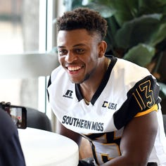 Southern Miss' Picasso Nelson nominated for 2018 Allstate AFCA Good Works Team