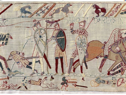 The centerpiece of a Viking ocean ship is a replica of the famous Bayeux Tapestry