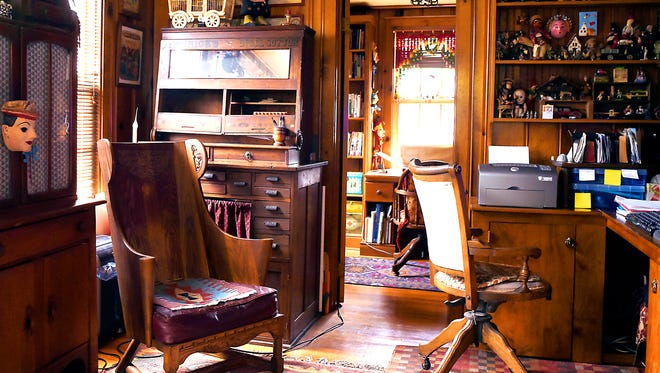 Lotte Carpenter's renovated farmhouse in Freeville is decorated with antiques and unique treasures from her international travels. Carpenter and her late husband renovated the property, starting in the late 1980s.