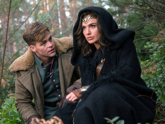 Chris Pine, left, and Gal Gadot team up in 'Wonder