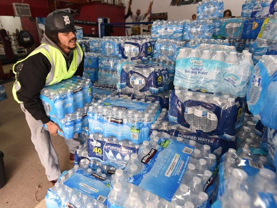 The mayor of Flint says a bottled water company has agreed to send truckloads of free water to the city