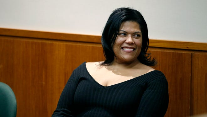 Judge Leticia Astacio returned to court on Friday at the Hall of Justice.
