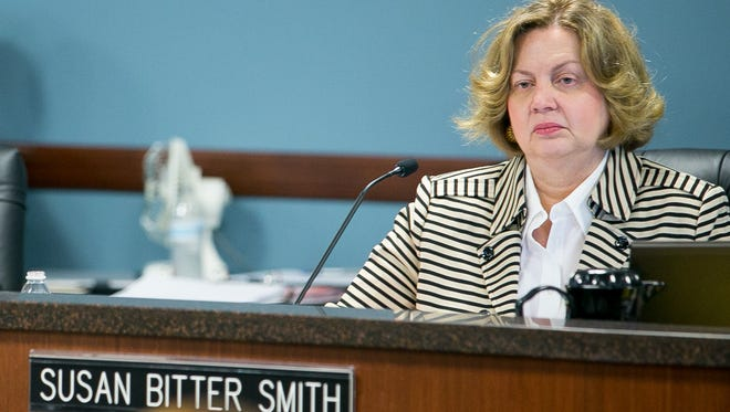 Arizona Attorney General Mark Brnovich's office filed documents Nov. 30 with the state Supreme Court seeking to oust Susan Bitter Smith, chairwoman of the Arizona Corporation Commission. All five sitting commissioners drew controversy in 2015.