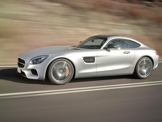 The Mercedes-AMG GT has a 7-speed transmission that pushes it to nearly 200 m.p.h.