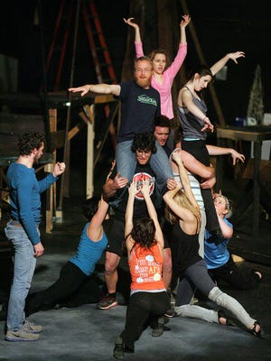 """Weathervane Playhouse rehearses """"Jesus Christ Superstar."""" The show kicks off Thursday and continues until Dec. 28."""