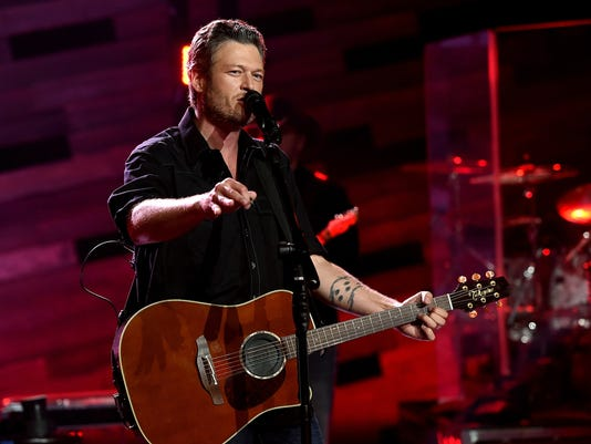 Blake Shelton On The Honda Stage At The iHeartRadio Theater