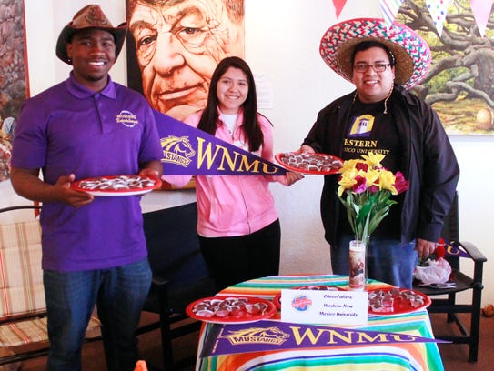 WNMU students and staff, Khari Bailey, from left, AsiaMarie