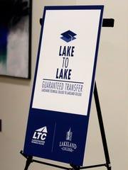 The Lake to Lake program logo Tuesday, Oct. 27, in