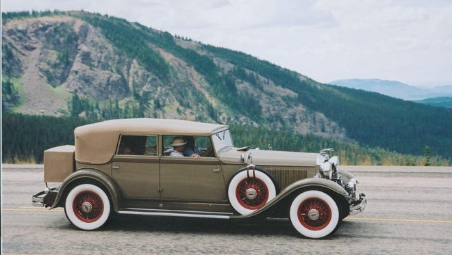 Wally Donoghue's 1931 Lincoln convertible sedan during the 2003 Classic Car Club of America Colorado Caravan at about 9,000 feet up in the Colorado Rockies.