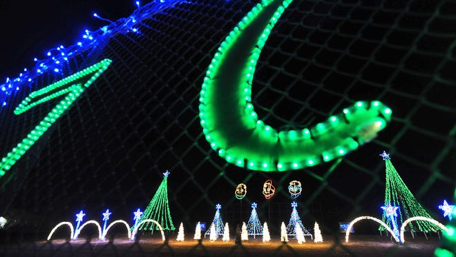Christmas lights at Fond du Lac's Lakeside Park brighten the night in 2015.