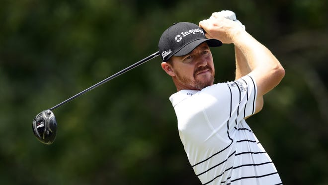 Jimmy Walker tees off on the fifth hole during the first round.