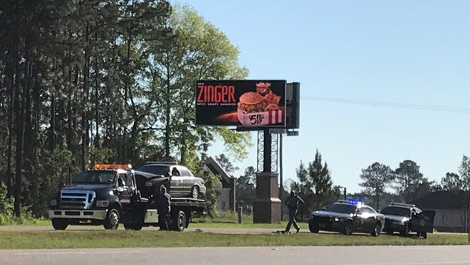 """Two Mississippi Highway Patrol vehicles were damaged in a """"semi-speed"""" pursuit of a suspect in a stolen Lamar County Sheriff's Department vehicle Tuesday morning in Lamar County."""