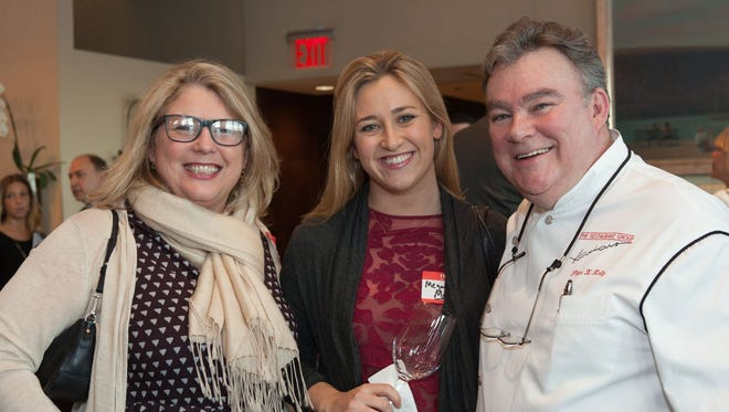 lohudfood's Liz Johnson and Megan McCaffrey with Peter X. Kelly at the Spring 2016 Hudson Valley Restaurant Week kickoff at X2O in Yonkerws