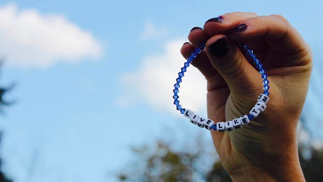 """Sales of the """"Live Like Tim"""" bracelet will benefit the Timothy J. Piazza Foundation."""