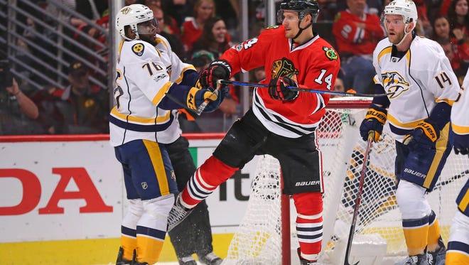Predators defensemen P.K. Subban and Mattias Ekholm are among the top defensive pairs in the NHL.