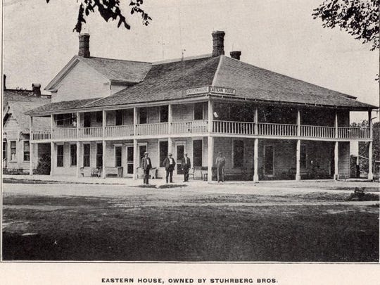 Eastern House Hotel was at the northeast corner of Main Street and Grand River, a location now containing the parking lot of CVS.