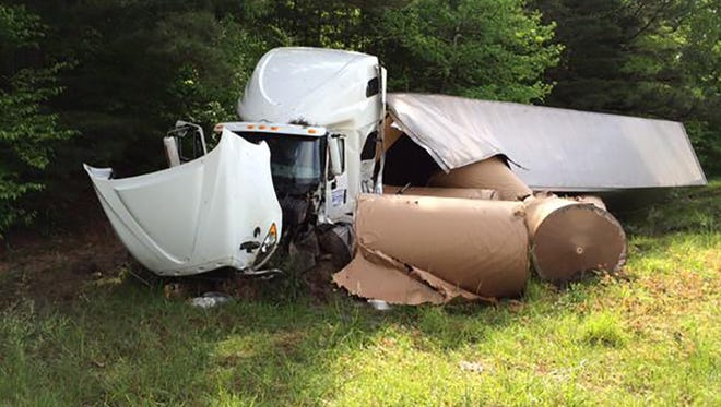 A 18-wheeler accident in Copiah County Tuesday