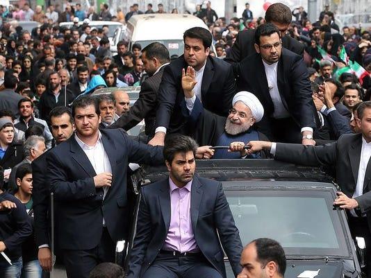 Iranian President Hassan Rowhani in Rasht