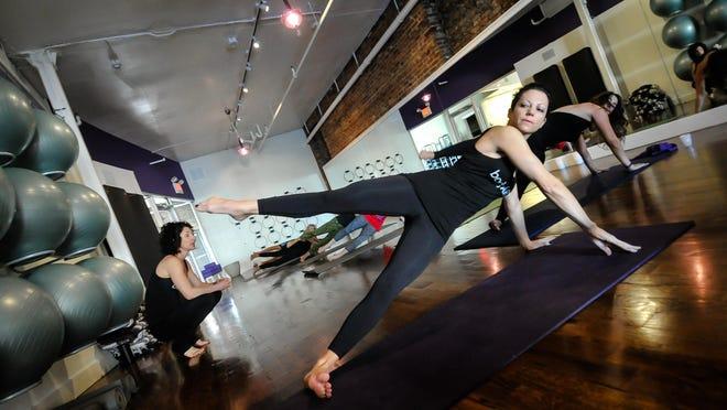 Renaissance Pilates owner Danielle Buccellato takes part in a bodyART class.