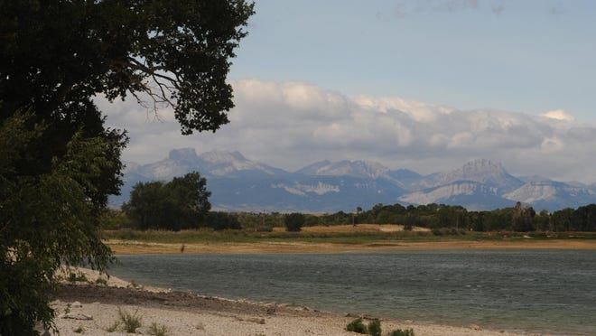 The Rocky Mountain Front stands behind Eureka Reservoir.