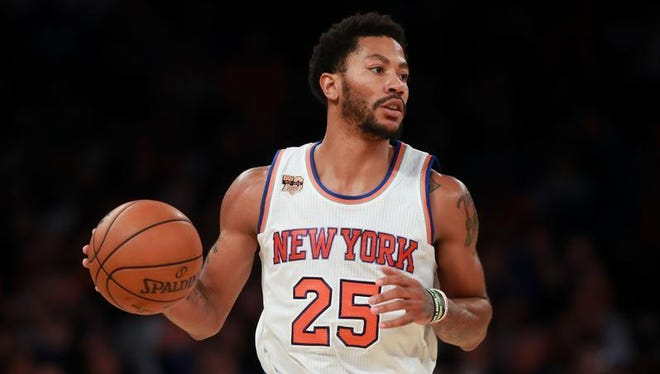 Derrick Rose and the Knicks will face the Pistons at the Palace on Tuesday.